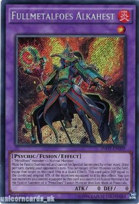 Picture of INOV-EN039 Fullmetalfoes Alkahest Secret Rare UNL Edition Mint YuGiOh Card