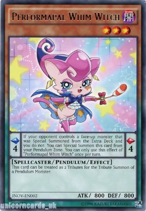 Picture of INOV-EN002 Performapal Whim Witch Rare UNL Edition Mint YuGiOh Card