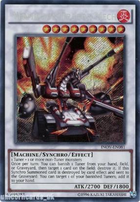 Picture of INOV-EN081 Vermillion Dragon Mech Secret Rare UNL Edition Mint YuGiOh Card