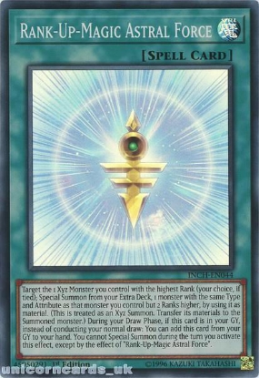 Picture of INCH-EN044 Rank-Up-Magic Astral Force Super Rare 1st Edition Mint YuGiOh Card