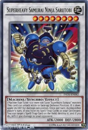 Picture of INOV-EN042 Superheavy Samurai Ninja Sarutobi Rare UNL Edition Mint YuGiOh Card