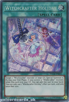 Picture of INCH-EN021 Witchcrafter Holiday Secret Rare 1st Edition Mint YuGiOh Card
