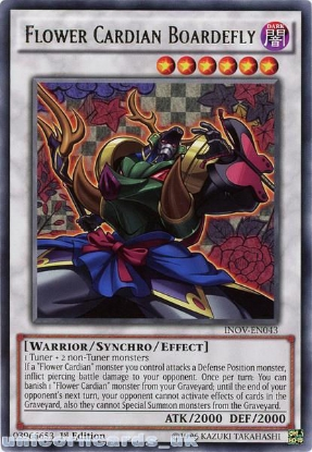 Picture of INOV-EN043 Flower Cardian Boardefly Rare 1st edition Mint YuGiOh Card