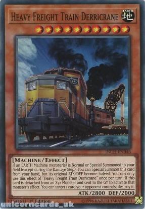 Picture of INCH-EN046 Heavy Freight Train Derricrane Super Rare 1st Edition Mint YuGiOh Card