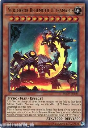 Picture of INOV-EN084 Subterror Behemoth Ultramafus Ultra Rare UNL Edition Mint YuGiOh Card