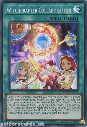 Picture of INCH-EN022 Witchcrafter Collaboration Super Rare 1st Edition Mint YuGiOh Card