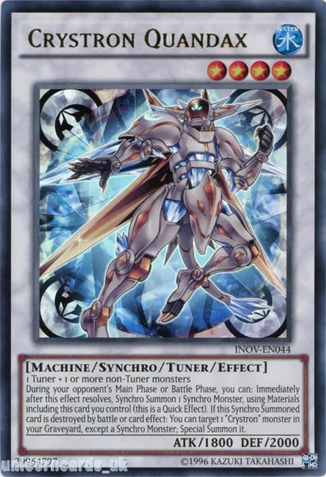 INOV-EN015 Crystron Quan Super Rare 1st edition Mint YuGiOh Card
