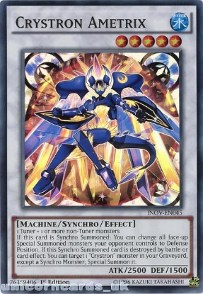 Picture of INOV-EN045 Crystron Ametrix Super Rare 1st edition Mint YuGiOh Card