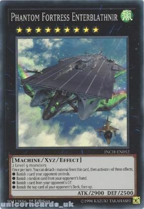 Picture of INCH-EN052 Phantom Fortress Enterblathnir Super Rare 1st Edition Mint YuGiOh Card