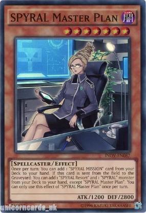 Picture of INOV-EN087 SPYRAL Master Plan Super Rare UNL Edition Mint YuGiOh Card
