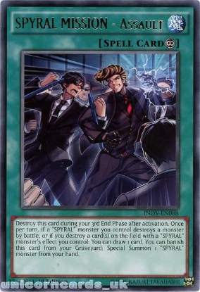 Picture of INOV-EN088 SPYRAL MISSION - Assault Rare 1st edition Mint YuGiOh Card