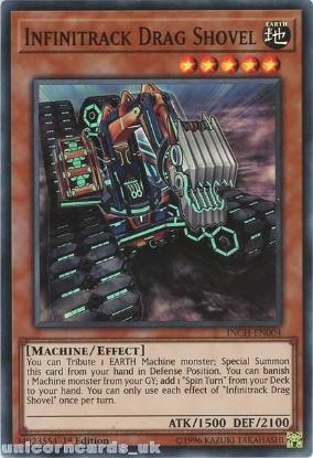 Picture of INCH-EN004 Infinitrack Drag Shovel Super Rare 1st Edition Mint YuGiOh Card