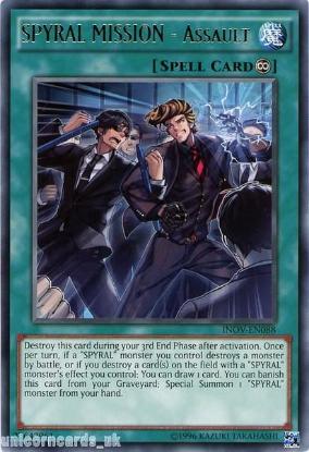 Picture of INOV-EN088 SPYRAL MISSION - Assault Rare UNL Edition Mint YuGiOh Card