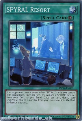 Picture of INOV-EN089 SPYRAL Resort Super Rare 1st edition Mint YuGiOh Card