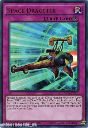 Picture of INOV-ENSP1 Space Dragster Ultra Rare Limited Edition Mint YuGiOh Card