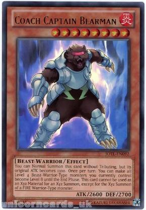 Picture of JOTL-EN092 Coach Captain Bearman Ultra Rare UNL Edition Mint YuGiOh Card