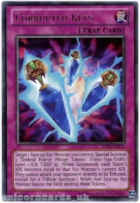 Picture of JOTL-EN072 Corrupted Keys Rare UNL Edition Mint YuGiOh Card