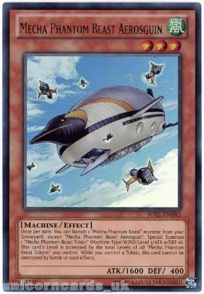 Picture of JOTL-EN082 Mecha Phantom Beast Aerosguin Ultra Rare UNL Edition Mint YuGiOh Card