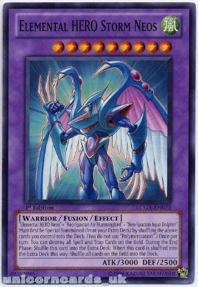 Picture of LCGX-EN073 Elemental HERO Storm Neos 1st Edition Mint YuGiOh Card