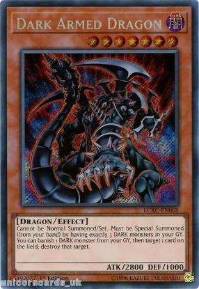 Picture of LCKC-EN068 Dark Armed Dragon Secret Rare 1st Edition Mint YuGiOh Card