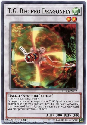 Picture of LC5D-EN212 T.G. Recipro Dragonfly 1st Edition Mint YuGiOh Card
