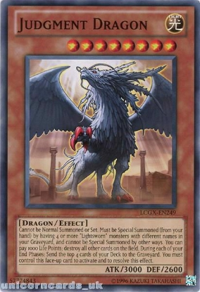 Picture of LCGX-EN249 Judgment Dragon Common UNL Edition Mint YuGiOh Card