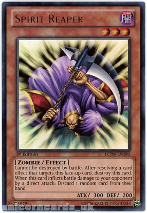 Picture of LCJW-EN190 Spirit Reaper Ultra Rare 1st Edition Mint YuGiOh Card