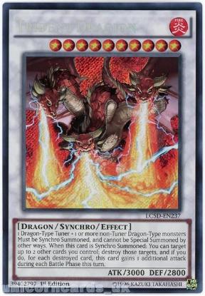 Picture of LC5D-EN237 Trident Dragion Secret Rare 1st Edition Mint YuGiOh Card