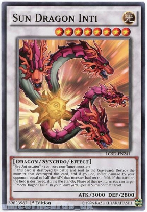 Picture of LC5D-EN241 Sun Dragon Inti 1st Edition Mint YuGiOh Card