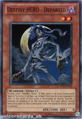 Picture of LCGX-EN136 Destiny HERO - Departed Common UNL Edition Mint YuGiOh Card