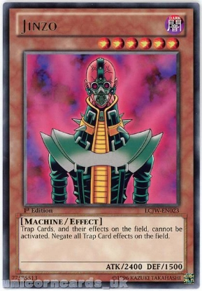 Picture of LCJW-EN023 Jinzo Rare 1st Edition Mint YuGiOh Card