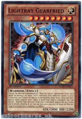 Picture of LCJW-EN052 Lightray Gearfried 1st Edition Mint YuGiOh Card