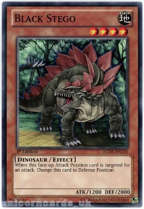 Picture of LCJW-EN155 Black Stego 1st Edition Mint YuGiOh Card