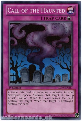 Picture of LCJW-EN217 Call of the Haunted Super Rare 1st Edition Mint YuGiOh Card