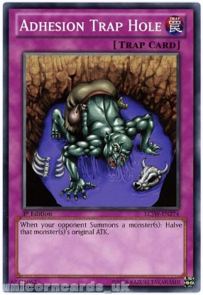 Picture of LCJW-EN274 Adhesion Trap Hole 1st Edition Mint YuGiOh Card