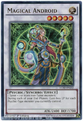 Picture of LC5D-EN232 Magical Android Ultra Rare 1st Edition Mint YuGiOh Card