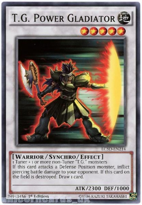 Picture of LC5D-EN214 T.G. Power Gladiator 1st Edition Mint YuGiOh Card