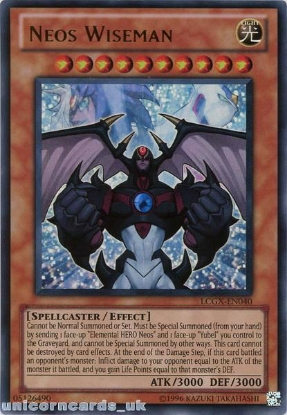 Picture of LCGX-EN040 Neos Wiseman Ultra Rare UNL Edition Mint YuGiOh Card