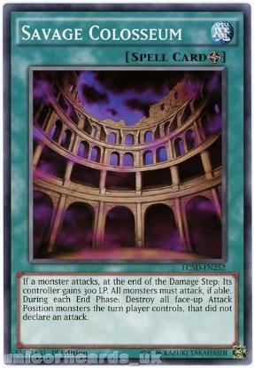 Picture of LC5D-EN252 Savage Colosseum 1st Edition Mint YuGiOh Card