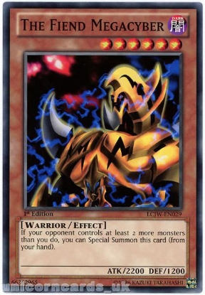 Picture of LCJW-EN029 The Fiend Megacyber 1st Edition Mint YuGiOh Card