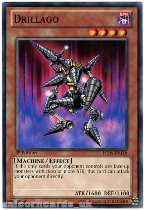 Picture of LCJW-EN118 Drillago 1st Edition Mint YuGiOh Card
