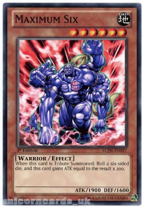 Picture of LCJW-EN047 Maximum Six 1st Edition Mint YuGiOh Card