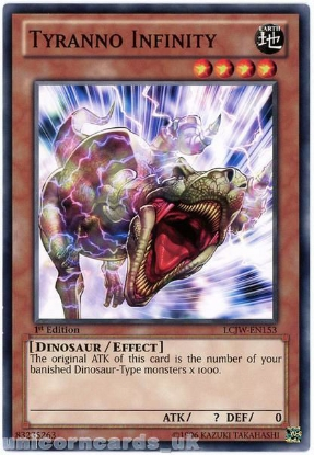 Picture of LCJW-EN153 Tyranno Infinity 1st Edition Mint YuGiOh Card
