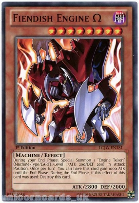 Picture of LCJW-EN181 Fiendish Engine Ω 1st Edition Mint YuGiOh Card
