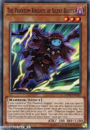Picture of LEHD-ENC02 The Phantom Knights of Silent Boots 1st Edition Mint YuGiOh Card