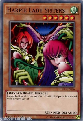 Picture of LED4-EN006 Harpie Lady Sisters 1st Edition Mint YuGiOh Card