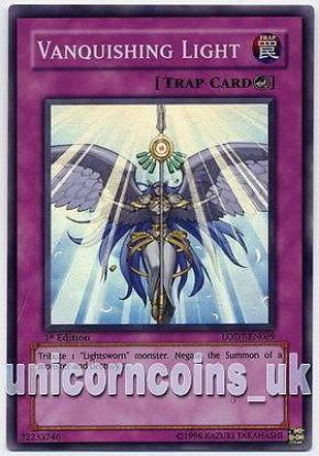 Picture of LODT-EN089 Vanquishing Light Super Rare Mint 1st Edition Mint YuGiOh Card