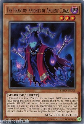 Picture of LEHD-ENC01 The Phantom Knights of Ancient Cloak 1st Edition Mint YuGiOh Card