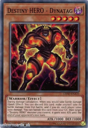 Picture of LEHD-ENA10 Destiny HERO - Dynatag 1st Edition Mint YuGiOh Card