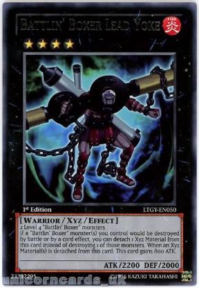 Picture of LTGY-EN050 Battlin' Boxer Lead Yoke Rare 1st Edition Mint YuGiOh Card